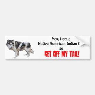 Pegatina para el parachoques india del perro del n pegatina para auto