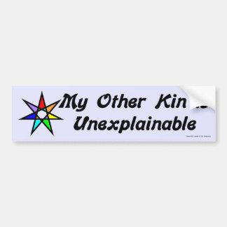Pegatina para el parachoques - inexplicable pegatina de parachoque