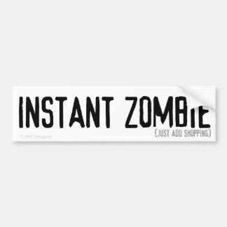 Pegatina para el parachoques inmediata del zombi ( pegatina para auto