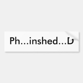 Pegatina para el parachoques inshed del pH…… D Pegatina Para Auto