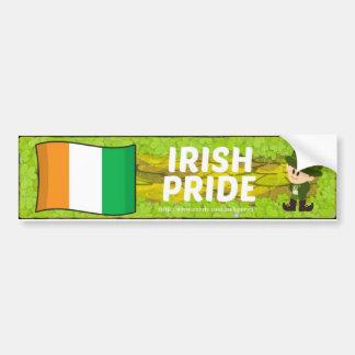 Pegatina para el parachoques irlandesa del orgullo pegatina para auto