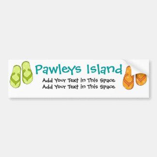 Pegatina para el parachoques - isla de Pawleys por Pegatina Para Coche
