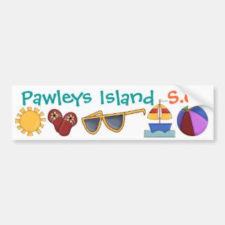 Pegatina para el parachoques - isla de Pawleys por Pegatina Para Auto