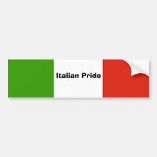 Pegatina para el parachoques italiana del orgullo pegatina para auto