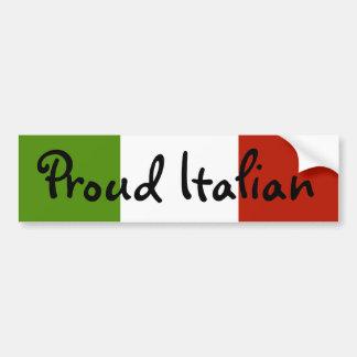 Pegatina para el parachoques italiana orgullosa etiqueta de parachoque