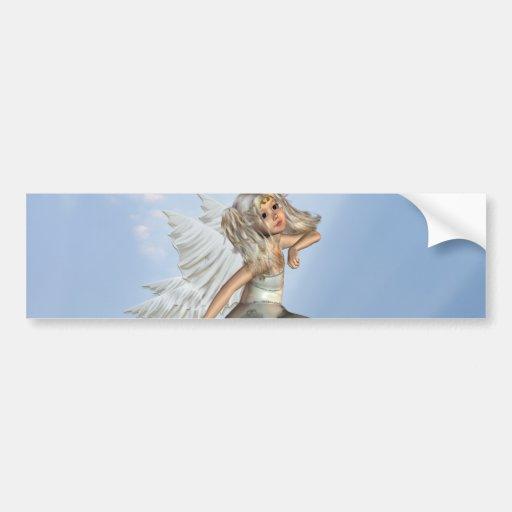 Pegatina para el parachoques joven dulce del ángel pegatina para auto