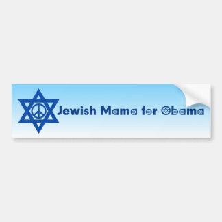 Pegatina para el parachoques judía 4 de mamá For O Pegatina De Parachoque