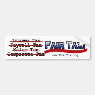 Pegatina para el parachoques justa del impuesto pegatina para auto
