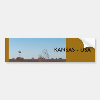 Pegatina para el parachoques/Kansas Pegatina Para Auto