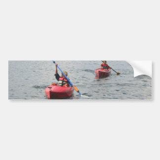 Pegatina para el parachoques Kayaking de los niños Pegatina Para Auto
