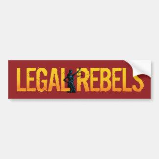 Pegatina para el parachoques legal de los rebeldes pegatina de parachoque