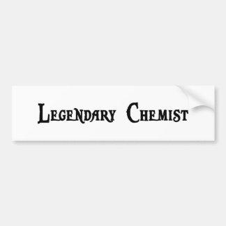 Pegatina para el parachoques legendaria del químic etiqueta de parachoque