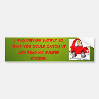 pegatina para el parachoques lenta del conductor pegatina para auto