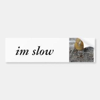 pegatina para el parachoques lenta im (del caracol pegatina para auto