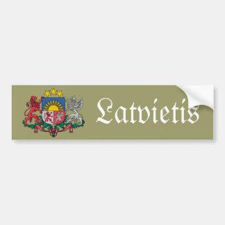 Pegatina para el parachoques letona con el escudo  pegatina para auto