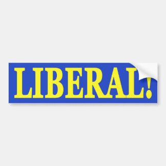 Pegatina para el parachoques liberal pegatina para auto