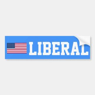 Pegatina para el parachoques liberal de la bandera pegatina para auto