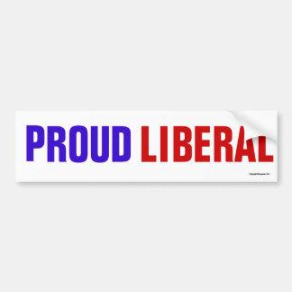 Pegatina para el parachoques liberal orgullosa pegatina para auto
