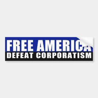Pegatina para el parachoques libre de América Pegatina De Parachoque