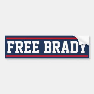 Pegatina para el parachoques libre de Brady Pegatina Para Auto