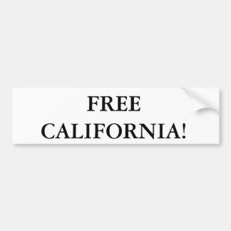 Pegatina para el parachoques libre de California Pegatina De Parachoque