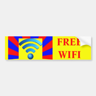 Pegatina para el parachoques libre de Wifi Pegatina Para Auto