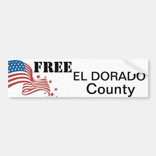 Pegatina para el parachoques libre del condado de  pegatina para auto