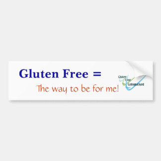 Pegatina para el parachoques libre del gluten - mo pegatina para auto