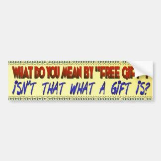 Pegatina para el parachoques libre del regalo pegatina para auto