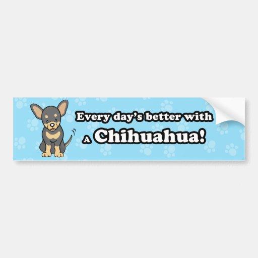 Pegatina para el parachoques linda de la chihuahua pegatina de parachoque