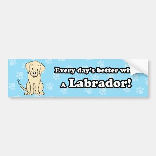Pegatina para el parachoques linda de Labrador del Pegatina Para Auto