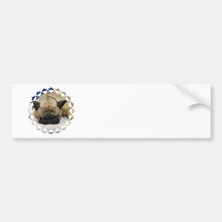 Pegatina para el parachoques linda del dogo francé etiqueta de parachoque