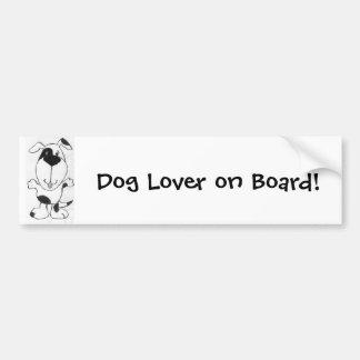 Pegatina para el parachoques linda del perro del d pegatina para auto