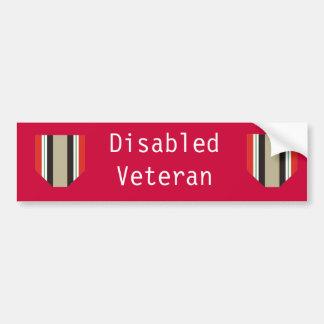 Pegatina para el parachoques lisiada del veterano  pegatina para auto