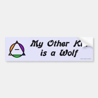 Pegatina para el parachoques - lobo pegatina de parachoque