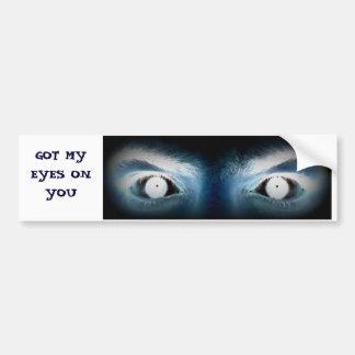 Pegatina para el parachoques loca de los ojos pegatina para auto