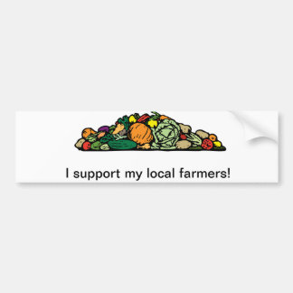 Pegatina para el parachoques local del granjero pegatina para auto