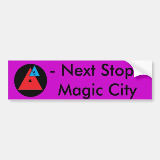 Pegatina para el parachoques mágica de la ciudad d etiqueta de parachoque