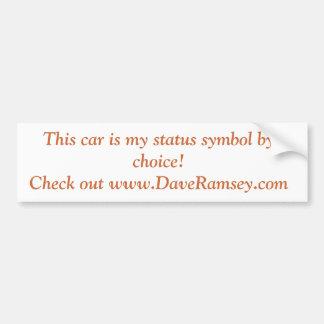 Pegatina para el parachoques mala del coche etiqueta de parachoque