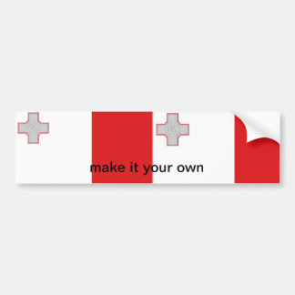 Pegatina para el parachoques maltesa de la bandera pegatina para auto