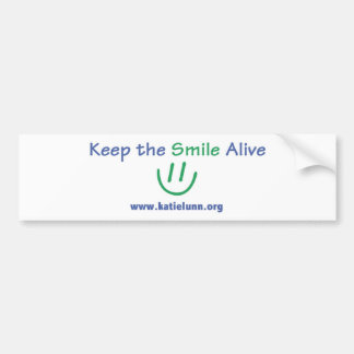 Pegatina para el parachoques - mantenga la sonrisa pegatina de parachoque
