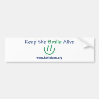 Pegatina para el parachoques - mantenga la sonrisa pegatina para auto