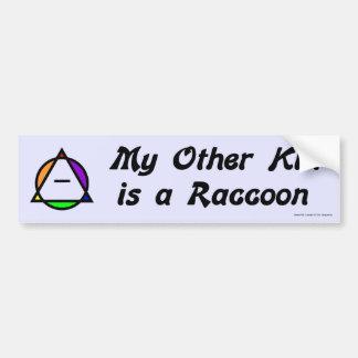 Pegatina para el parachoques - mapache etiqueta de parachoque