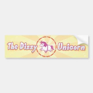 Pegatina para el parachoques mareada del unicornio pegatina para auto