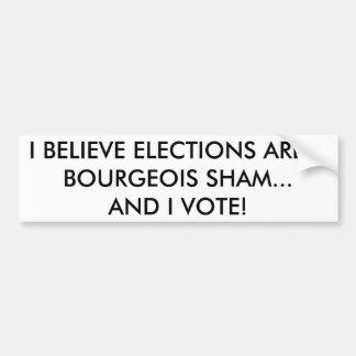 Pegatina para el parachoques marxista del votante etiqueta de parachoque