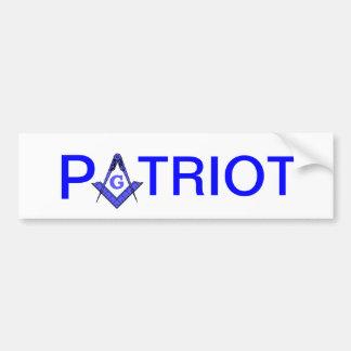 Pegatina para el parachoques masónica del patriota pegatina de parachoque