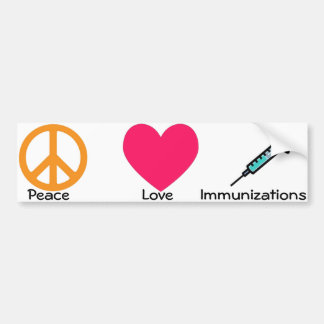 Pegatina para el parachoques médica/de la inmuniza pegatina de parachoque