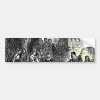 Pegatina para el parachoques medieval de las época etiqueta de parachoque