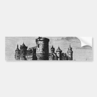 Pegatina para el parachoques medieval del castillo pegatina para auto