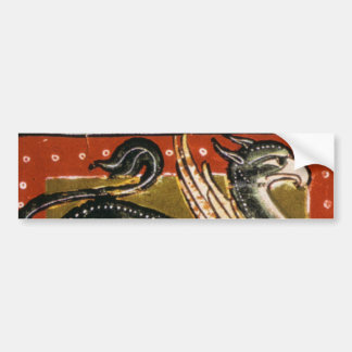 Pegatina para el parachoques medieval del grifo pegatina para auto